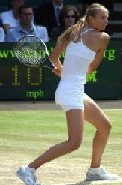 Maria Sharapova preparing for a backhand